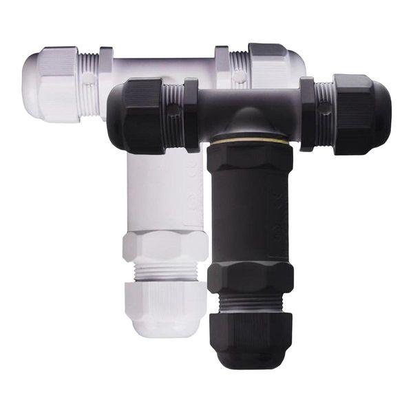 Wasserdichte Schraubmuffe T-Stück 3-Polig 230V IP68