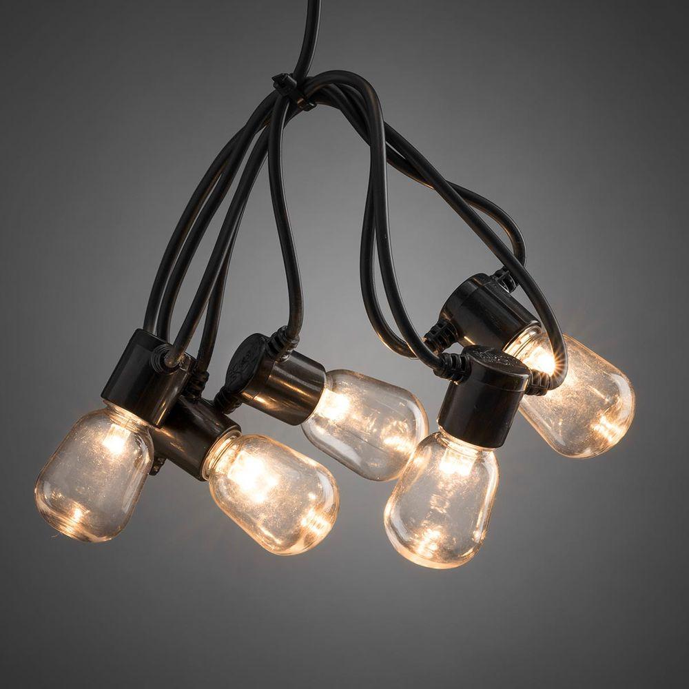LED Lichterkette à 20 Birnen Warmweiss 14.75m IP44