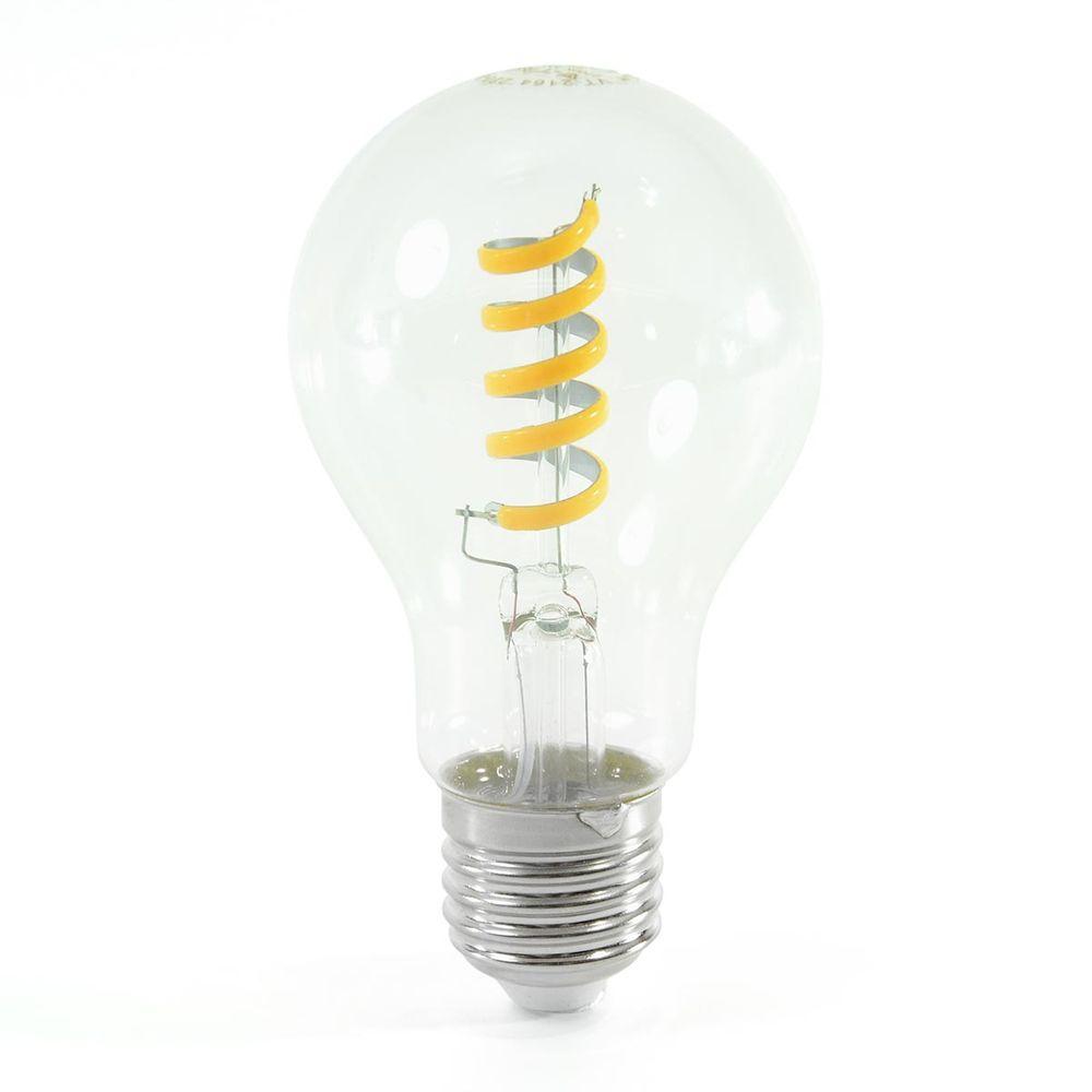 LED Birne Filament Spirale E27 A60 4W Warmweiss 400lm 300°