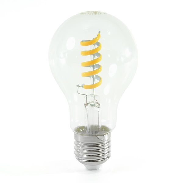 LED Birne Filament Spirale E27 A60 4W Warmweiss 400lm 300°
