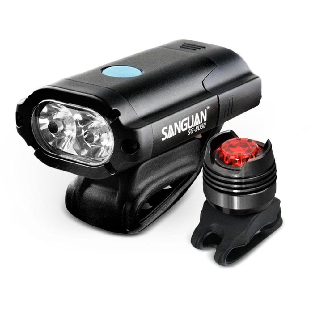 Aufladbares LED Bike Beleuchtung Set Sanguan SG-BU50 Front- & Rücklicht 450lm