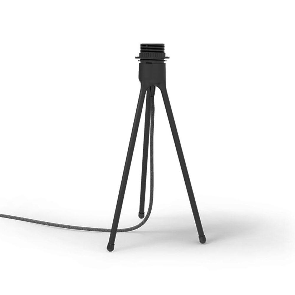 VITA Dreibein E27 Aluminium schwarz matt mit Schalter Stecker Kabel 190 x 190 x 360mm