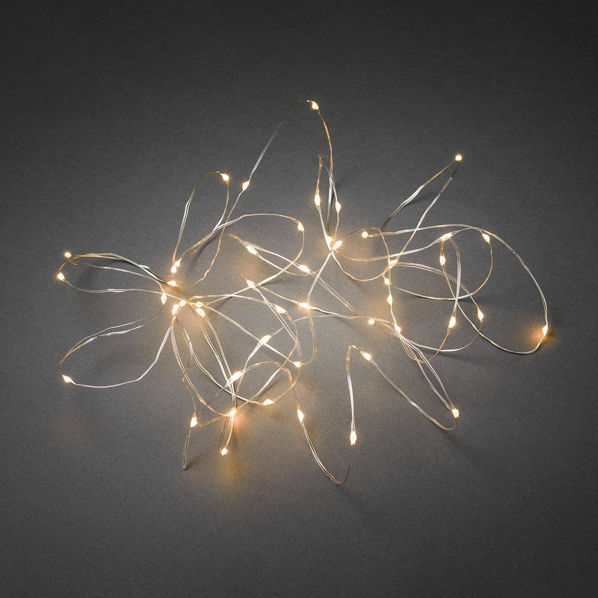 LED Tropfenlichterkette 4.9m 50 bernsteinfarbene Dioden 12V IP20 ...