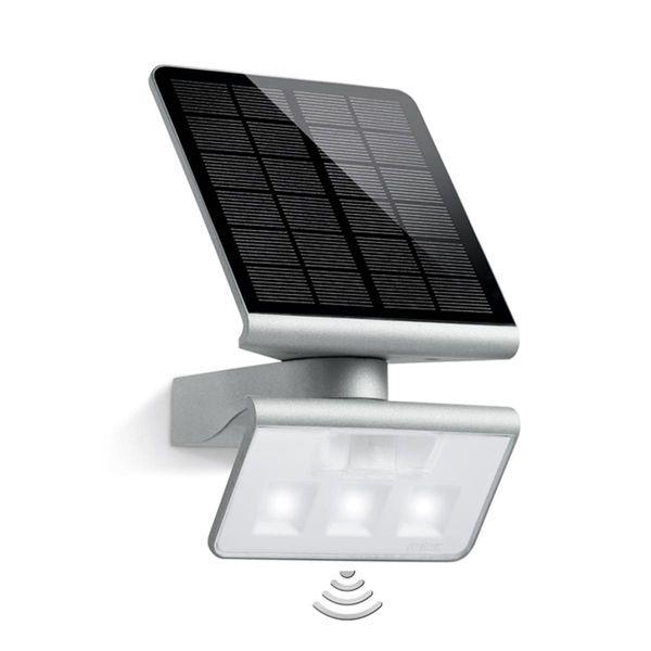 LED Solar Strahler Xsolar L-S 1,2W 4000K 150lm IP44 weiss Reichweite 8m Erfassungsbereich 140°