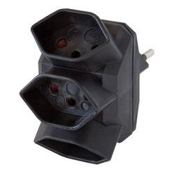 Brennenstuhl Abzweigstecker 3-fach Schwarz 3xT13 sternförmig