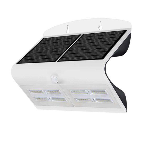 LED Solar Wandlampe weiss 7W 800lm 120° IP65