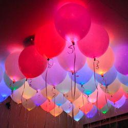 LED Party Ballon Set 15 Stück  Ø25cm farbig