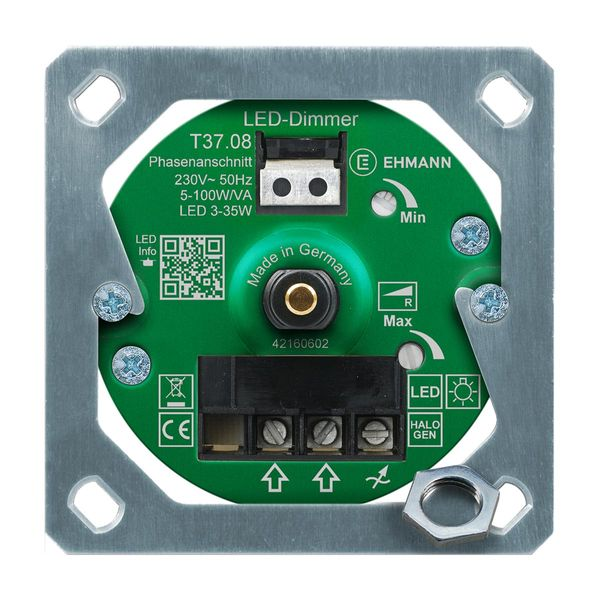 UP-Drehdimmer Ehmann T37.08.1 LED Phasenanschnitt R 3-35W Druck- & Wechselschalter - Feller kompatibel