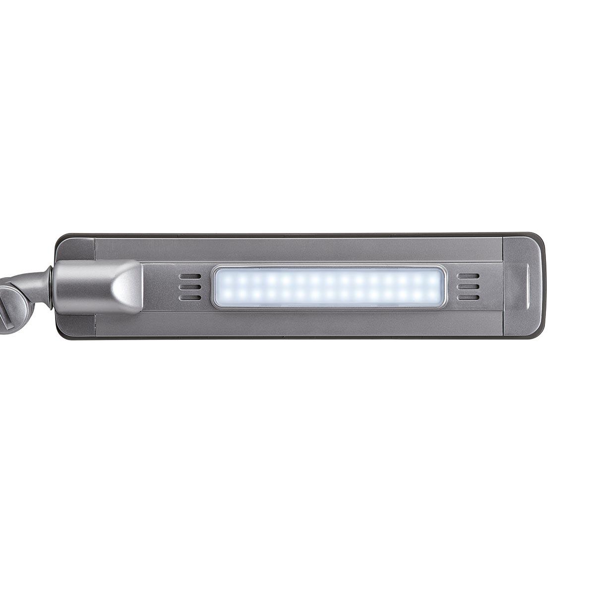 led schreibtischlampe maulpure silber 8w 430lm tageslicht dimmbar. Black Bedroom Furniture Sets. Home Design Ideas