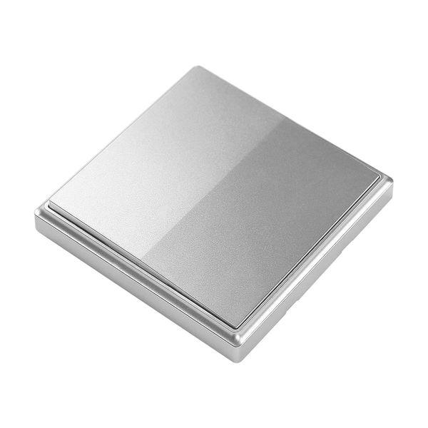 Codalux Funkschalter E-Serie kabellos batterielos 1 Taste silber