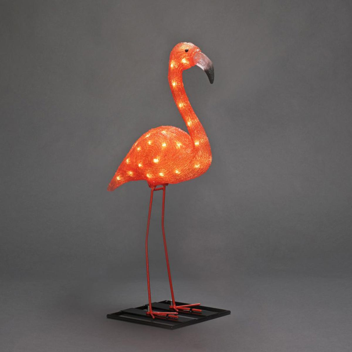 LED Acryl Flamingo Orange IP44