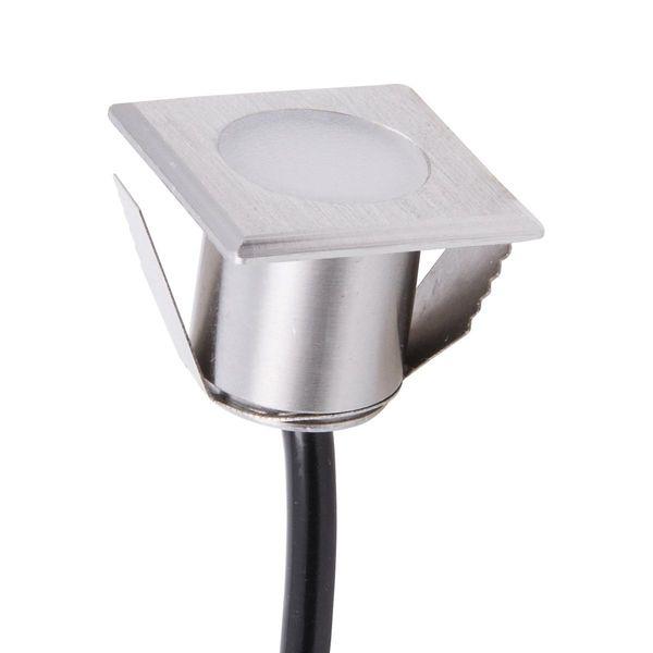 LED Bodeneinbaustrahler eckig WÜRZBURG4 20x20mm 12V 0.2W Warmweiss 8lm 160° IP67