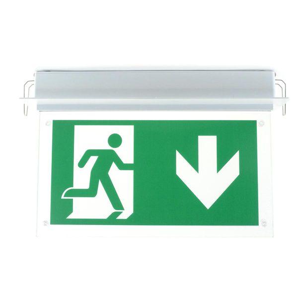LED Rettungszeichenleuchte für Unterputzmontage 3h Akkulaufzeit 2W 160lm IP20 für Dauerschaltung