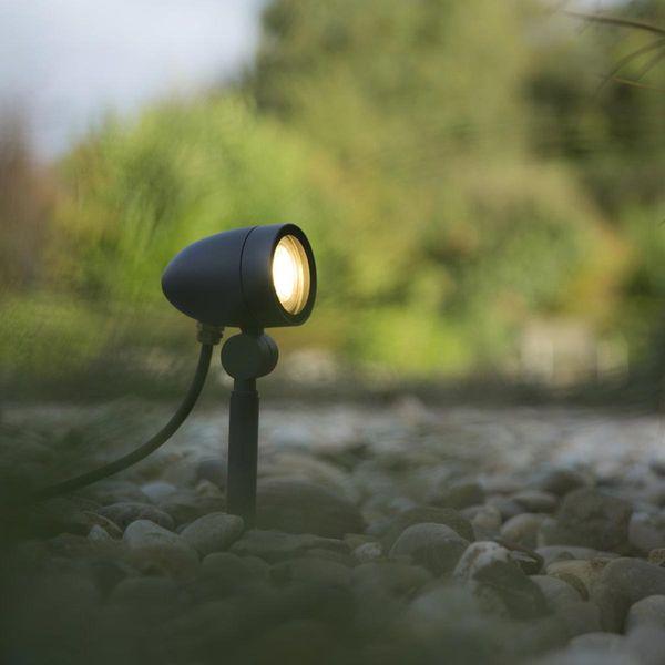 LED Strahler MALEA GU10 430mm IP54 mit CH-Stecker