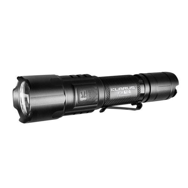 Aufladbare LED Zoom-Taschenlampe Klarus FX10 Cree XP-L HI V3 1000lm 300m