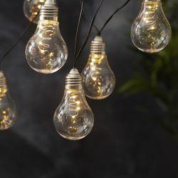 LED Solar Lichterkette GLOW à 10 warmweissen Birnen