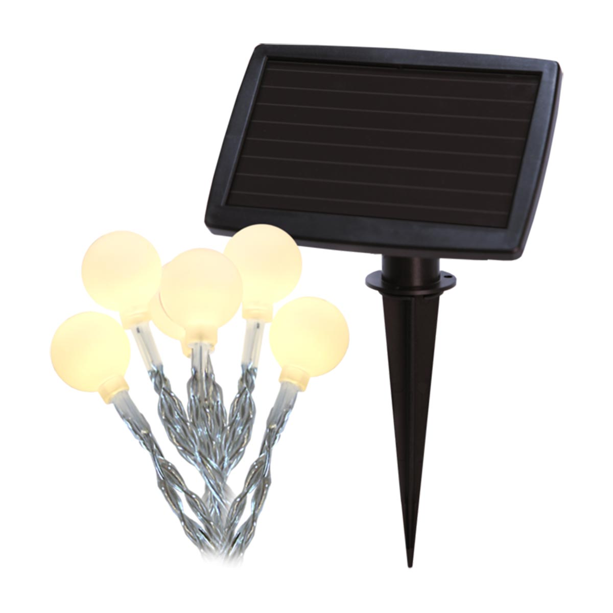 led solar lichterkette globini 20 warmweissen mini globes. Black Bedroom Furniture Sets. Home Design Ideas