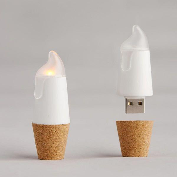 LED Flaschenlicht Candle BottleLight mit USB Warmweiss