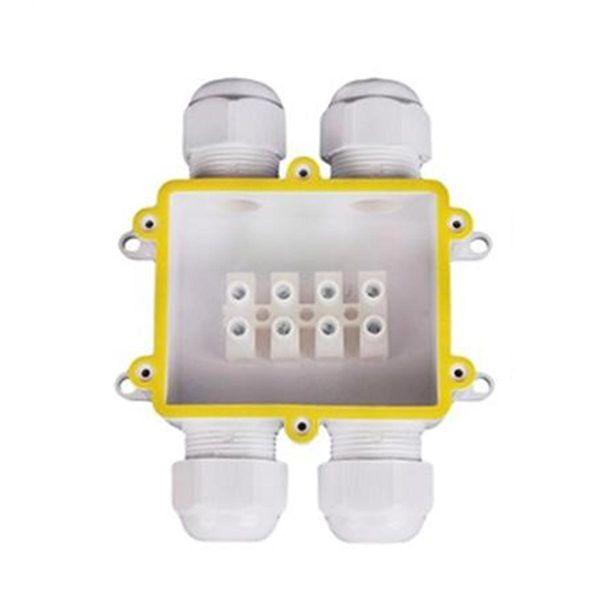 Wasserdichte Anschlussbox mit 4 Einführungen IP68
