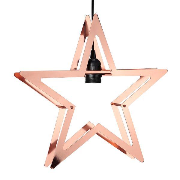 "LED Hängeleuchte Metallstern ""Starling"" kupfer 38x36cm E27 netzbetrieben IP20"