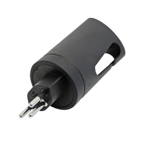 Gummistecker T12 schwarz Kabeleinführung Ø6mm IP44