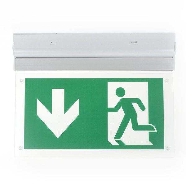 LED Rettungszeichenleuchte für Wand-und Deckenaufbau 3h Akkulaufzeit 2W 160lm 6000K IP20 für Dauerschaltung