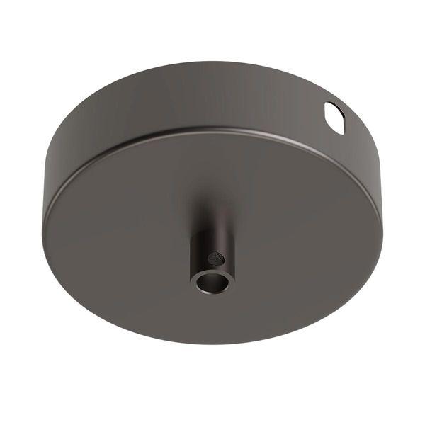 Baldachin aus Metall rund schwarz matt Ø10cm