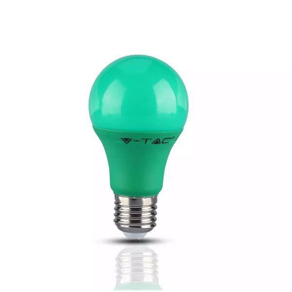LED Birne E27 A60 aus Kunststoff 9W 270lm 200° in Blau, Gelb, Grün und Rot