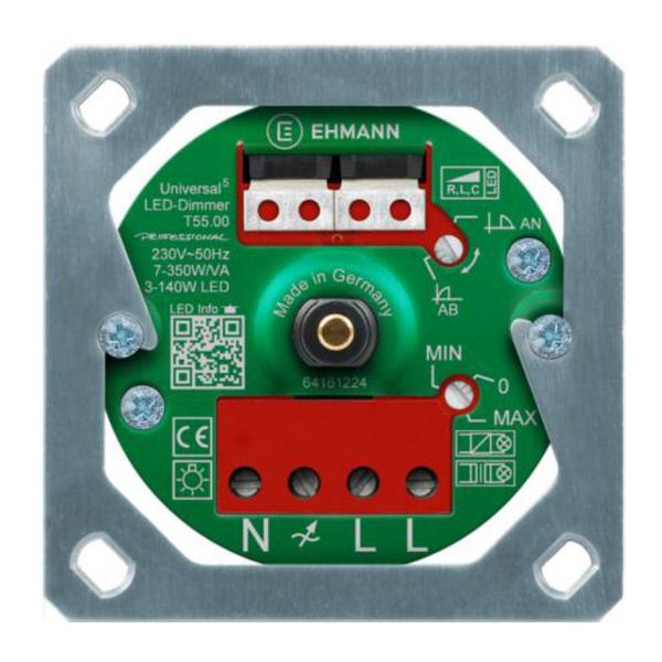 UP-Drehdimmer Ehmann LED Universaldimmer mit Feller Abdeckung