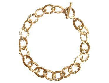 Gemshine - Damen - Unisex - Armband - Vergoldet - 19 cm