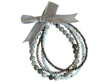Gemshine - Damen - Armband Set - Aquamarine Sea Breeze - Aquamarin - Blau - 925 Silber