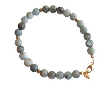 Gemshine - Damen - Armband - Aquamarin - Blau - Vergoldet - 6 mm