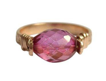Gemshine - Damen - Ring - Spannring - Vergoldet - Turmalin - Rosa