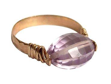 Gemshine - Damen - Ring - Spannring - Vergoldet - Rosenquarz - Rosa