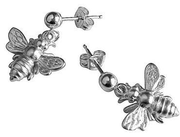 Gemshine - Damen - Ohrringe - 925 Silber - BEE - Biene - 1,5 cm