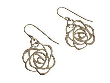 Gemshine - Damen - Ohrringe - 925 Silber - Blume - Rose - Art Deco - 2 cm
