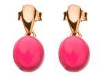 Gemshine Damenohrringe 925 Silber, vergoldet oder rose mit roten fuchsia Quarz Edelstein Ohrhänger - Nachhaltiger qualitätsvoller Schmuck Made in Spain