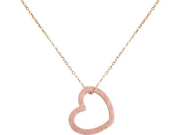 Gemshine - Damen - Herz - Halskette - Anhänger - 925 Silber - Rose Vergoldet - 2,5 cm