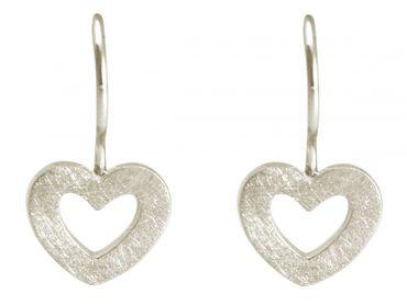Gemshine - Damen - Herz - Ohrringe - 925 Silber - 20mm