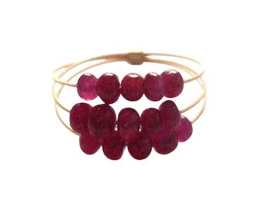 Gemshine - Damen - Ring - Vergoldet - Rubin - Rot
