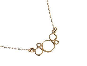 Gemshine - Damen - Halskette - Vergoldet - BUBBLES - 45 cm