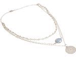 GEMSHINE Necklace Choker with faceted Moonstones and Mandala. Sterling Silver or 18k gold plated. Fine jewellery Made in Munich / Germany Bild 9