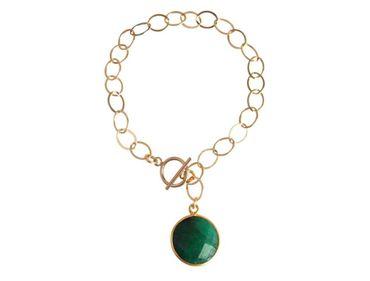 Gemshine - Damen - Armband - Vergoldet - Smaragd - Grün - CANDY