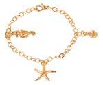 Gemshine Maritim Nautics Armband mit Seepferd, Seestern und Anker Charms aus 925 Silber, hochwertig vergoldet oder rose im Navy Stil – Made in Madrid, Spain