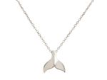 GEMSHINE Maritime Nautics Necklace with Whale Tail. Whale Fin in Sterling Silver, 18k gold plated or rose in Navy Style - Made in Madrid, Spain Bild 4