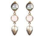 GEMSHINE Earrings or Clip-on earrings with Rose Quartz and Smoky Quartz gemstone teardrops. Sterling Silver 18k gold plated. Ethic fine jewellery Made in Germany Bild 1