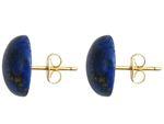 GEMSHINE Ohrringe mit blauen Lapis Lazuli Edelsteinen in 925 Silber, hochwertig vergoldet. Nachhaltiger, qualitätsvoller Schmuck Made in Germany Bild 2