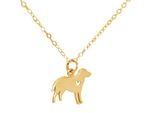 GEMSHINE Necklace Labrador dog pendant. Solid Sterling Silver, 18k gold or rose plated on 45cm chain. Gift for pet owner – Made in Spain Bild 1