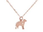GEMSHINE Necklace Labrador dog pendant. Solid Sterling Silver, 18k gold or rose plated on 45cm chain. Gift for pet owner – Made in Spain Bild 8