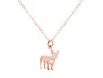 GEMSHINE Halskette Mops Hund Anhänger. Massiv 925 Silber, vergoldet oder rose an 45cm Kette. Geschenk für Haustier Herrchen, Frauchen – Made in Spain Bild 8